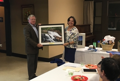 CONSERVATION GROUP HOSTS ANNUAL MEETING: Gaye Sprague recognized as Best Friend of the Reedy River