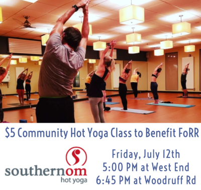 Southern Om Hot Yoga Community Class to benefit FoRR