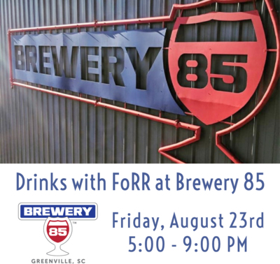 Drinks with FoRR at Brewery 85