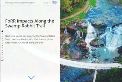 Story Map: FoRR Impacts Along the Swamp Rabbit Trail