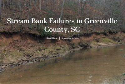 Stream Bank Failures in Greenville County, SC